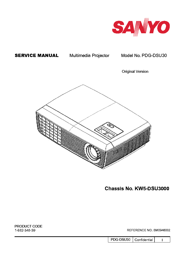 SANYO PDG-DSU30 SM Service Manual download, schematics