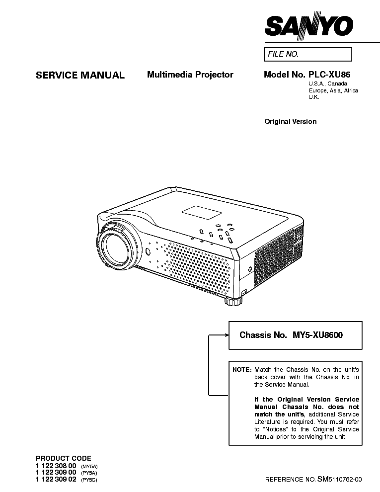 SANYO CLT-85KM Service Manual download, schematics, eeprom
