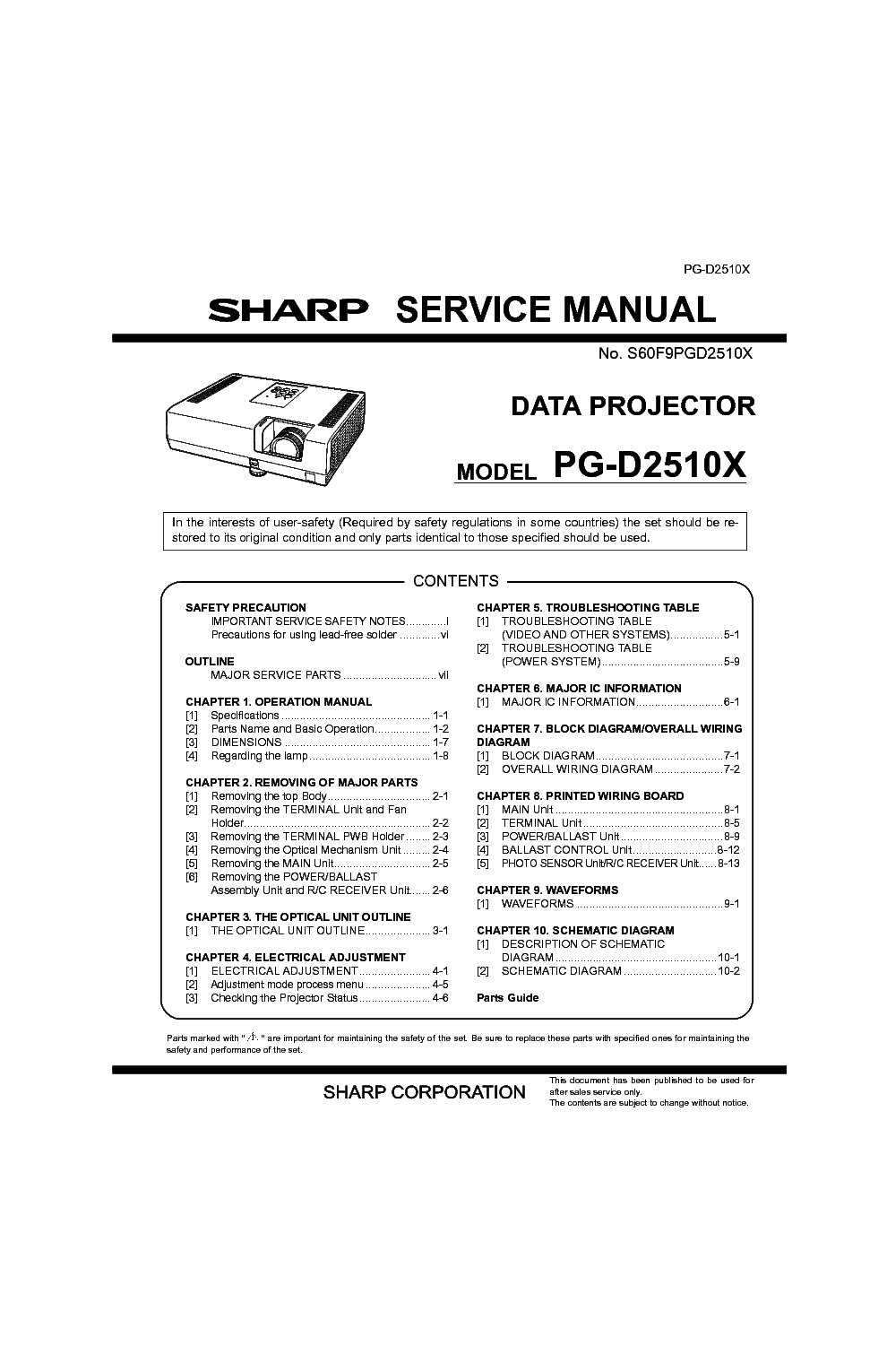 SHARP UX-108 UX-178 UX-188 FO-375 Service Manual download