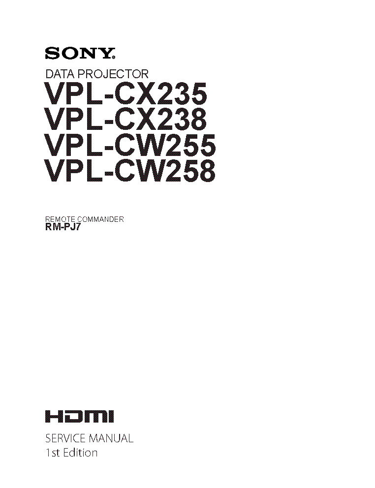 SONY VPL-CX70 VPL-CX75 Service Manual free download