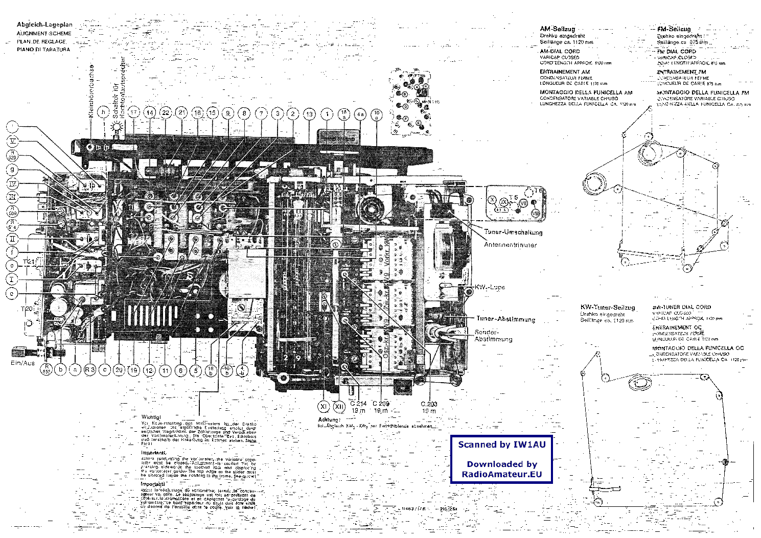 GRUNDIG SATELLIT-1000 Service Manual download, schematics