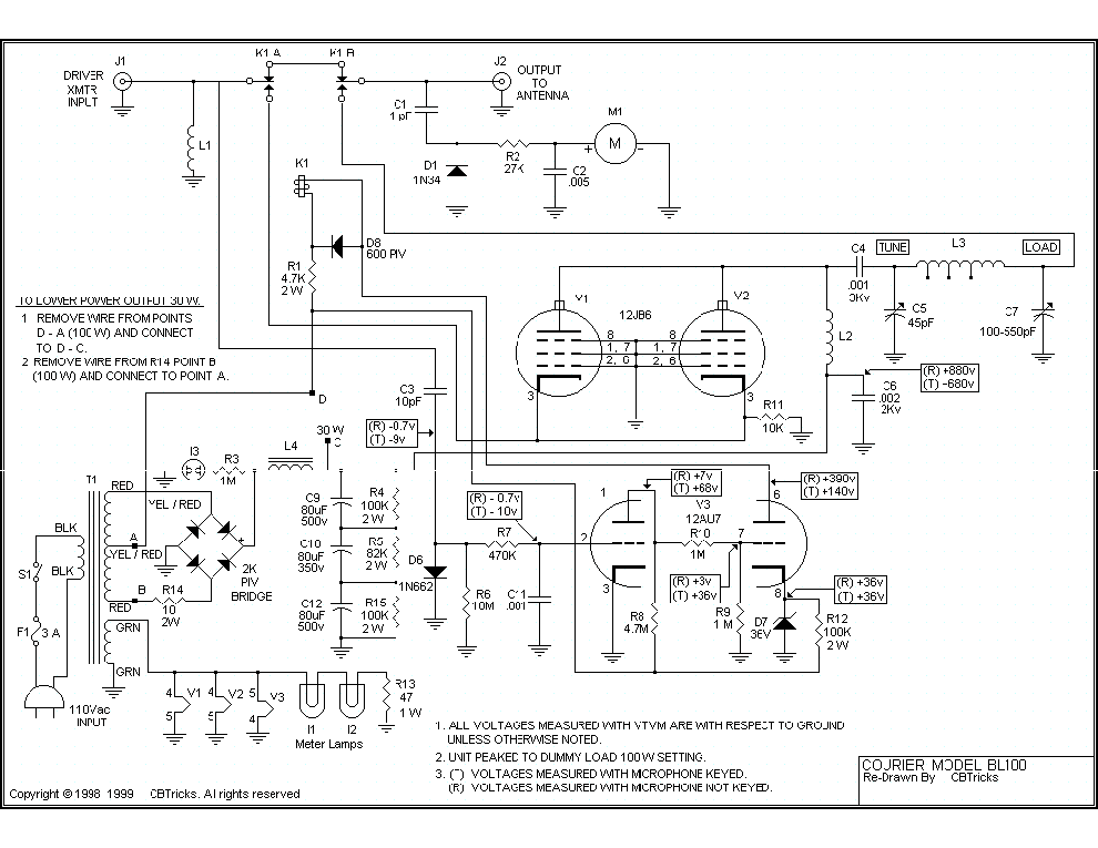 COURIER BL100 SCH Service Manual download, schematics