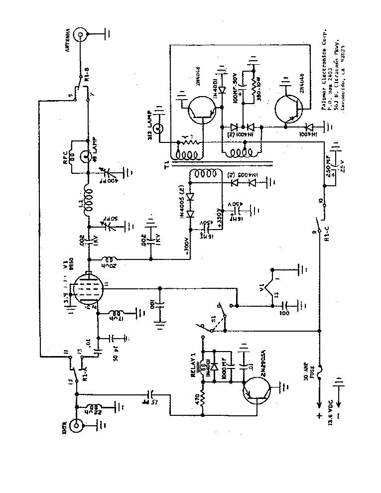 PALOMAR PULSOR Service Manual download, schematics, eeprom