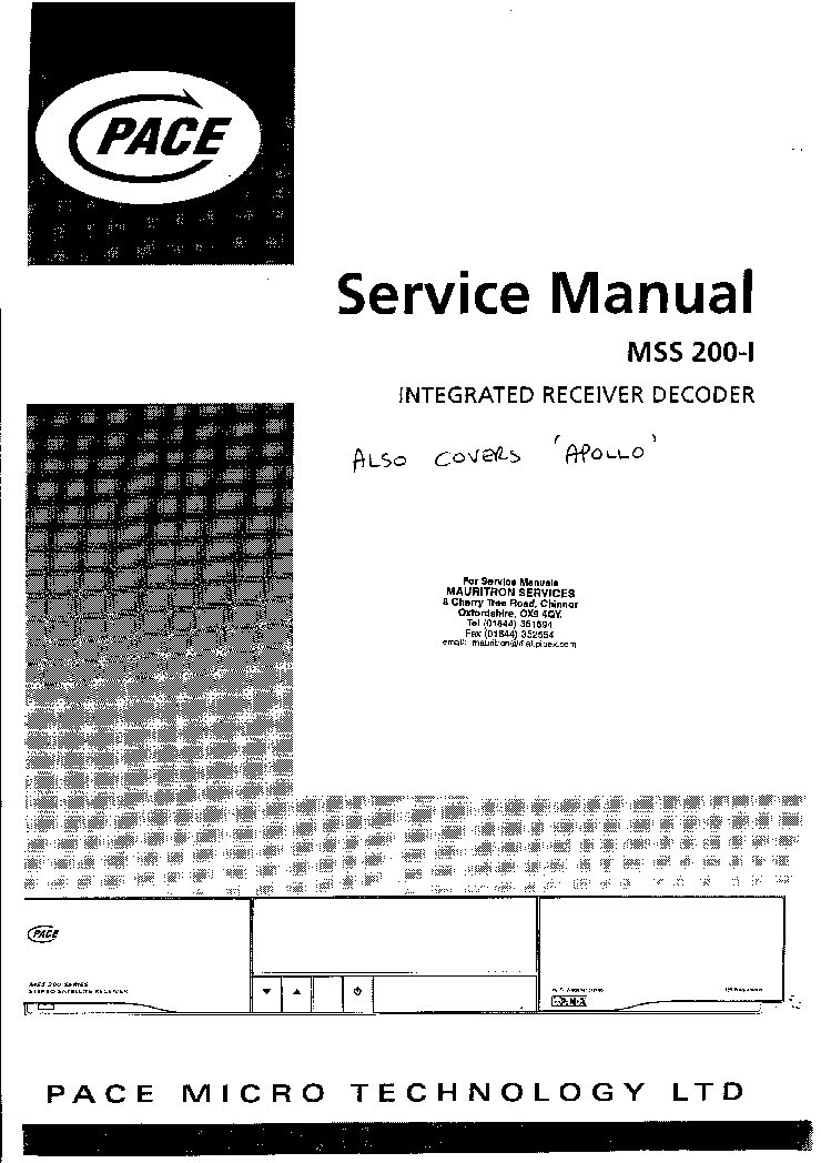 PACE MSS-200-I A Service Manual download, schematics