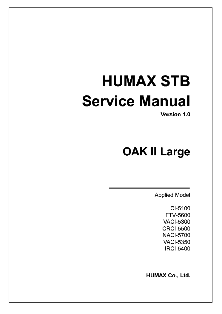 HUMAX IRCI 5400 PSU SCH Service Manual download