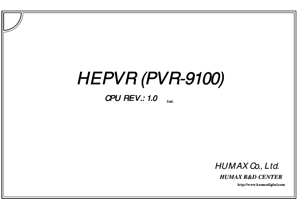 HUMAX NDCI-2000 Service Manual download, schematics