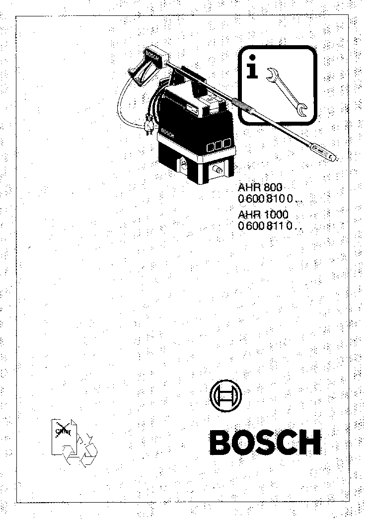 BOSCH GBH 4-DSC TYPE 0 611 222 7 Service Manual download