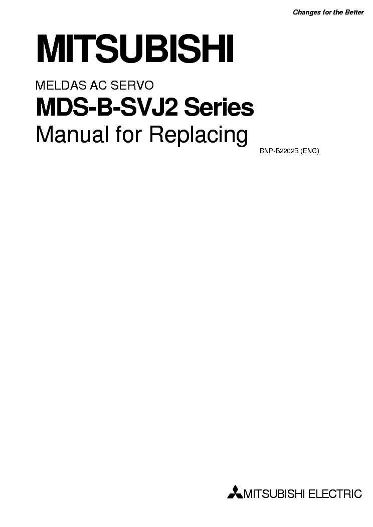 MITSUBISHI MELDAS MDS-B-SVJ2 SERIES AC-SERVO REPLACING