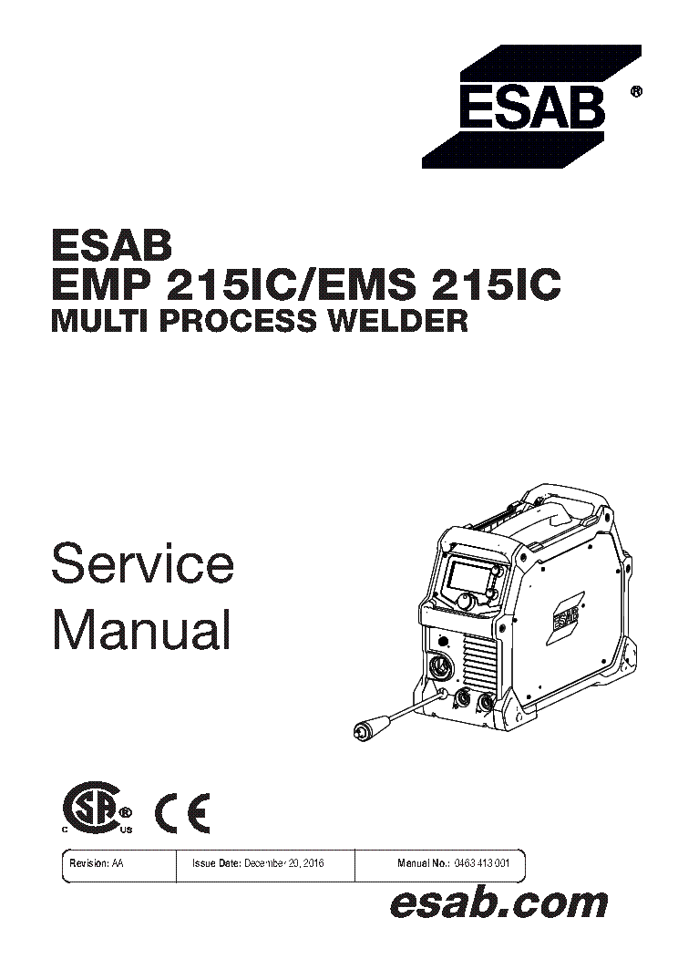 ESAB MIG C280 ESABMIG C340 Service Manual download