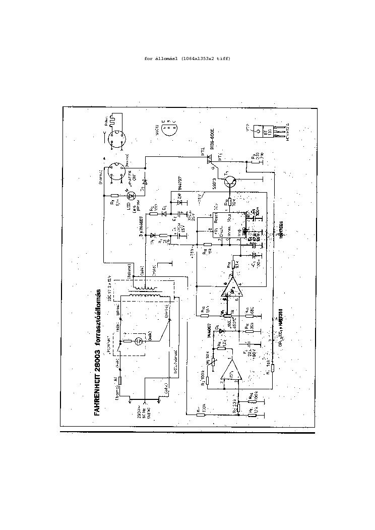 FAHRENHEIT 28003 SCH Service Manual download, schematics