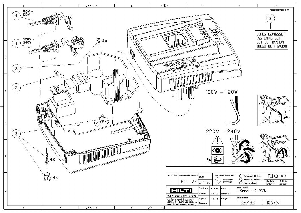 HILTI C7 24 Service Manual download, schematics, eeprom