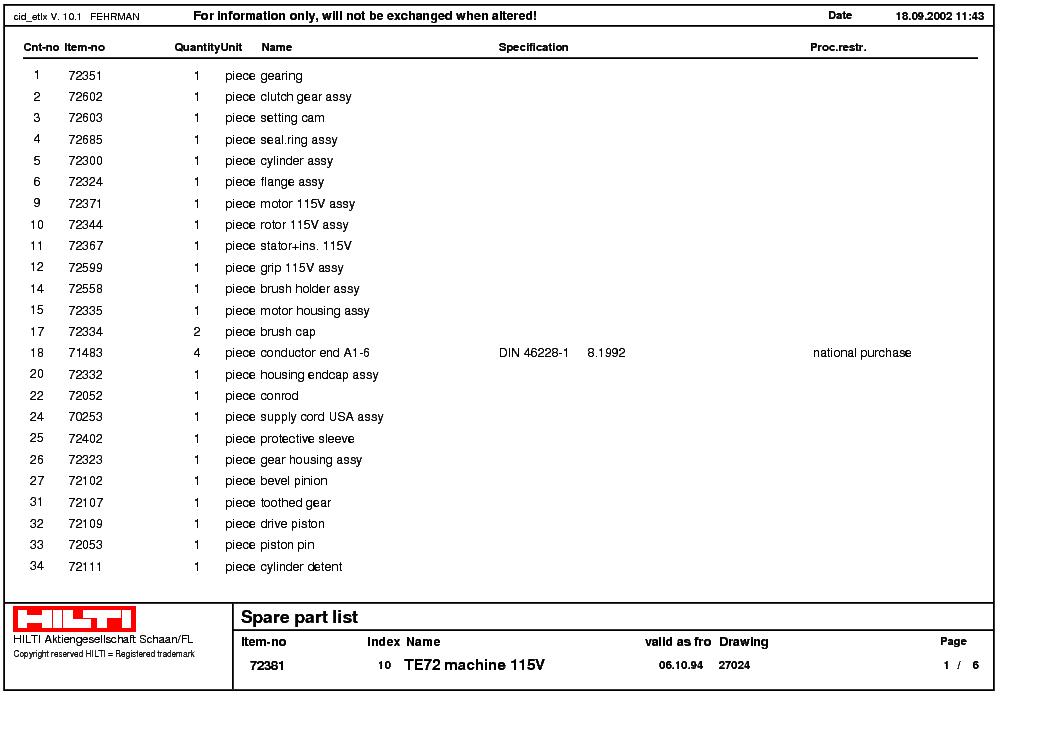 doc] ➤ diagram hilti te72 wiring diagram ebook schematichilti te 72 parts manual newmotorwall