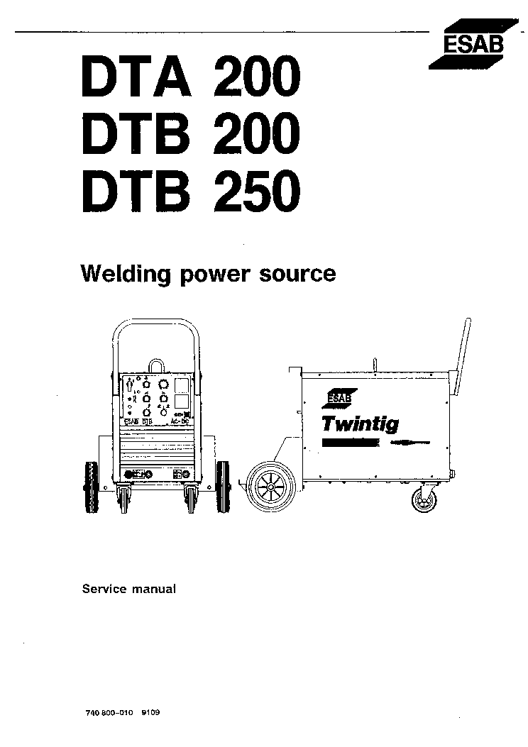 Esab Welding Machine Service Manual Wiring Diagrams