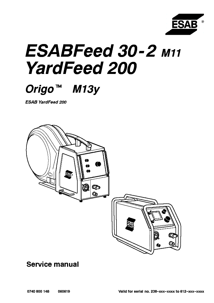 ESAB LUA 400 Service Manual free download, schematics