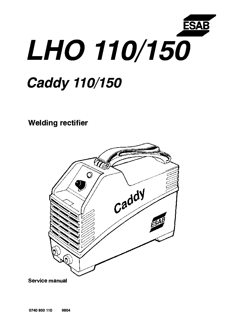 ESAB LHO 110 LHO 150 CADDY 110 150 Service Manual download