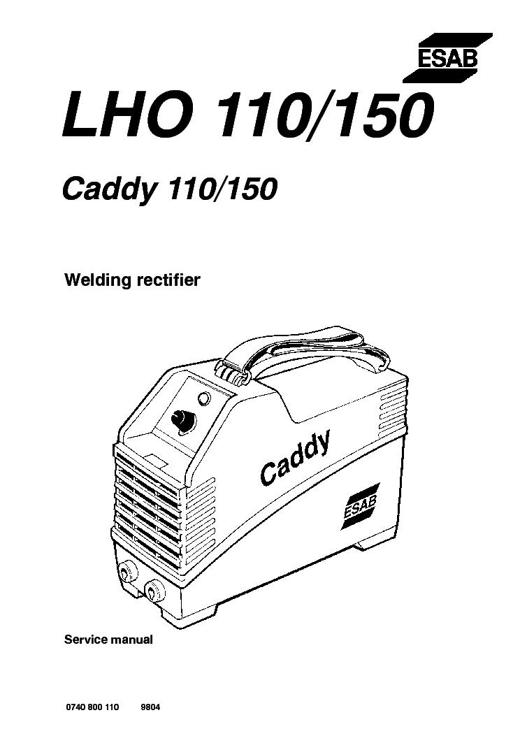 ESAB LHO 110 LHO 150 CADDY 110 150 Service Manual free