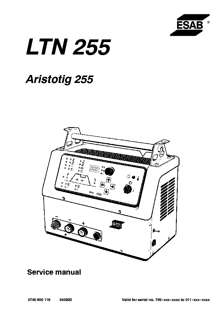 esab_ltn_255_aristo-tig_255.pdf_1 Radio Wiring For Dodge Nitro Diagram on