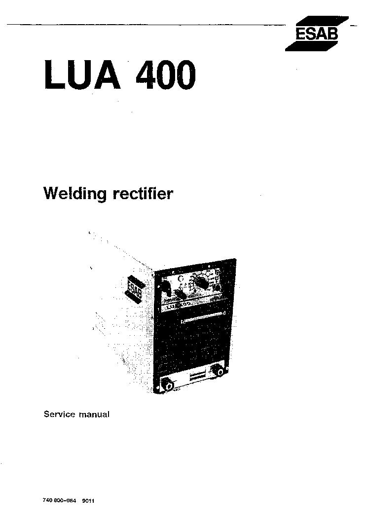 ESAB LUA 400 Service Manual download, schematics, eeprom