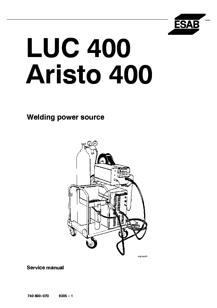 ESAB LUC 400 ARISTO 400 Service Manual download