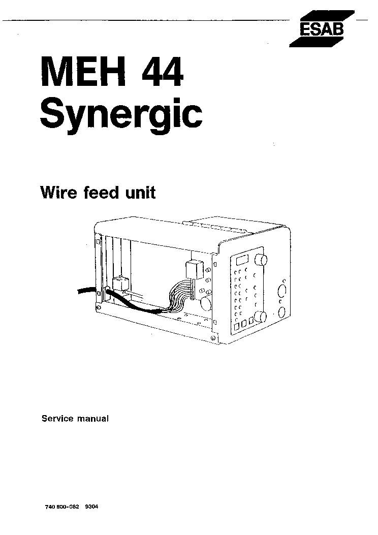 ESAB MEH 44 SYNERGIC Service Manual download, schematics