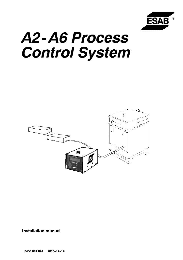 ESAB ORIGOT ARISTOT A2 A6 PROCESS CONTROL SYSTEM Service