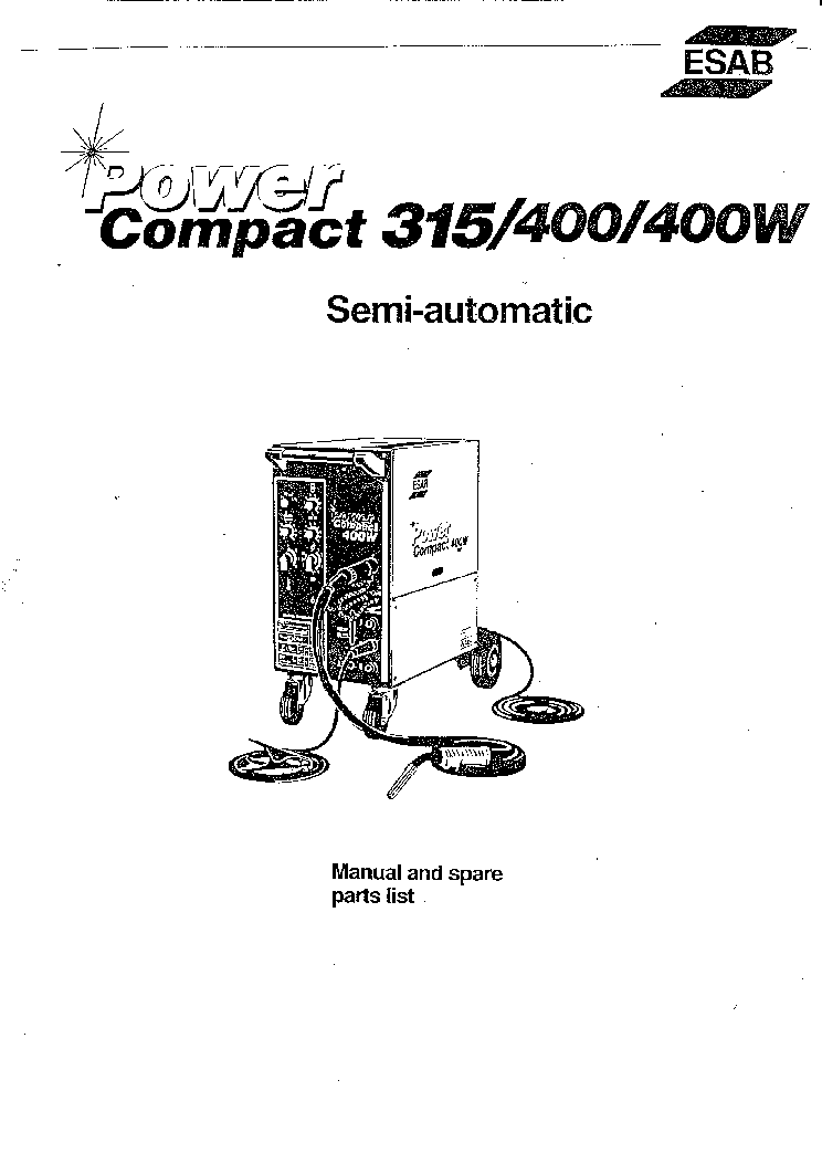 ESAB POWER COMPACT 315 400 400W Service Manual download