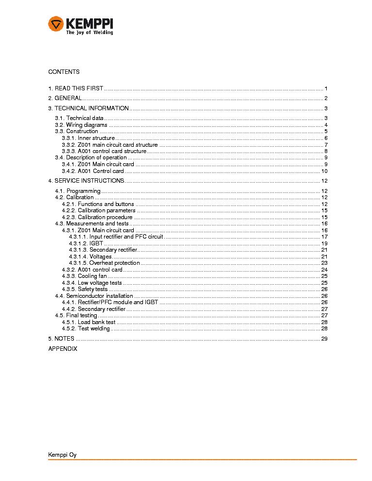KEMPPI MINARC EVO 150 SM Service Manual download
