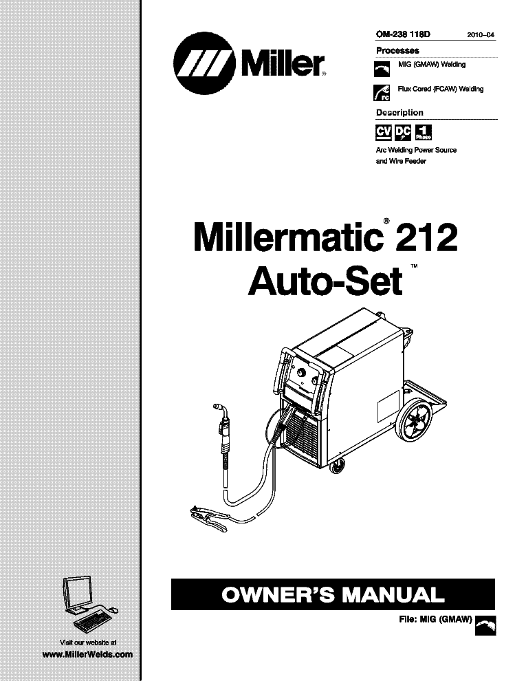 MILLER DIALARC HF HF-P SM Service Manual download