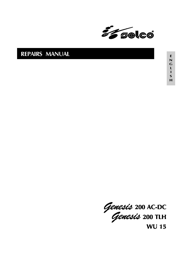 SELCO GENESIS 1100 1500 1500TLH SM Service Manual download