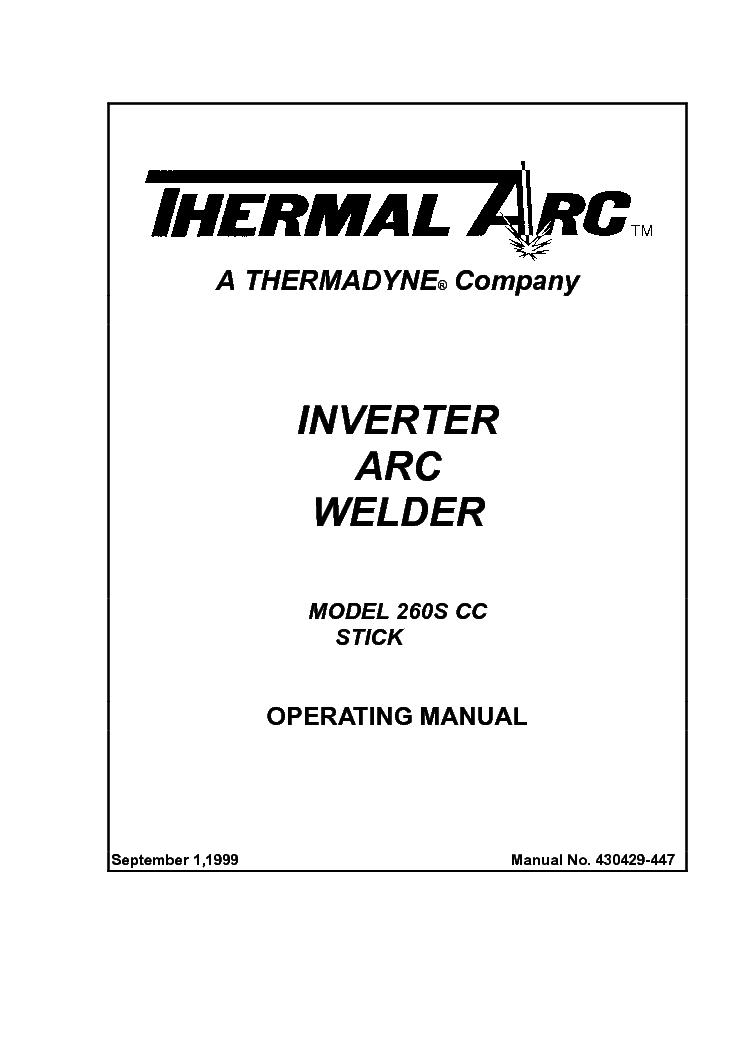 THERMAL DYNAMICS AIRCUT 15C ENG-OM Service Manual free