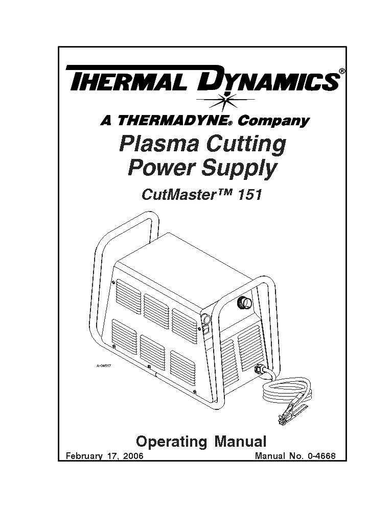 THERMAL DYNAMICS CUTMASTER 81 ENG-SM Service Manual