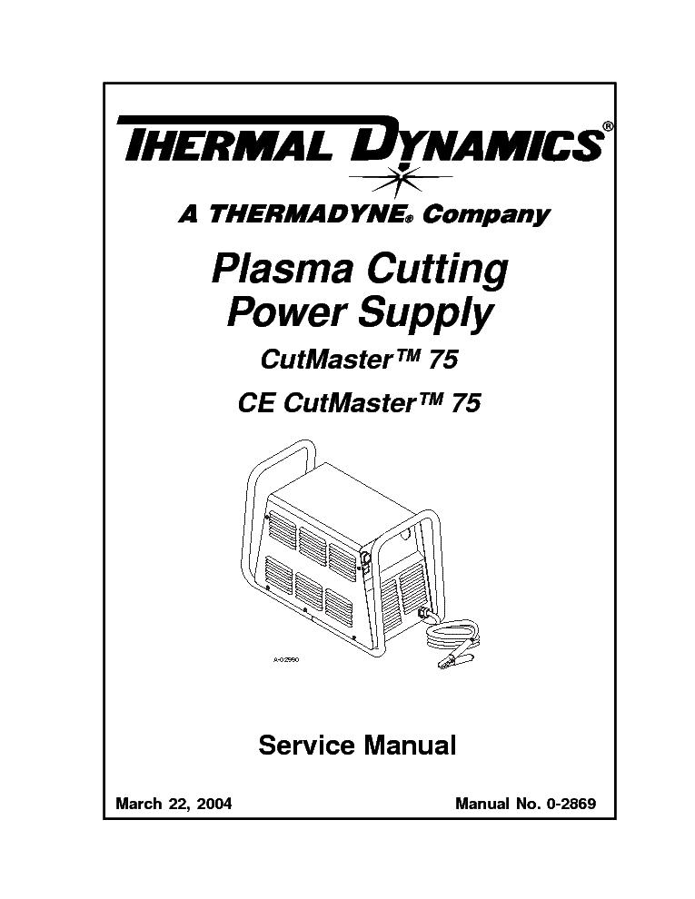 THERMAL DYNAMICS CUTMASTER 75 ENG-SM Service Manual