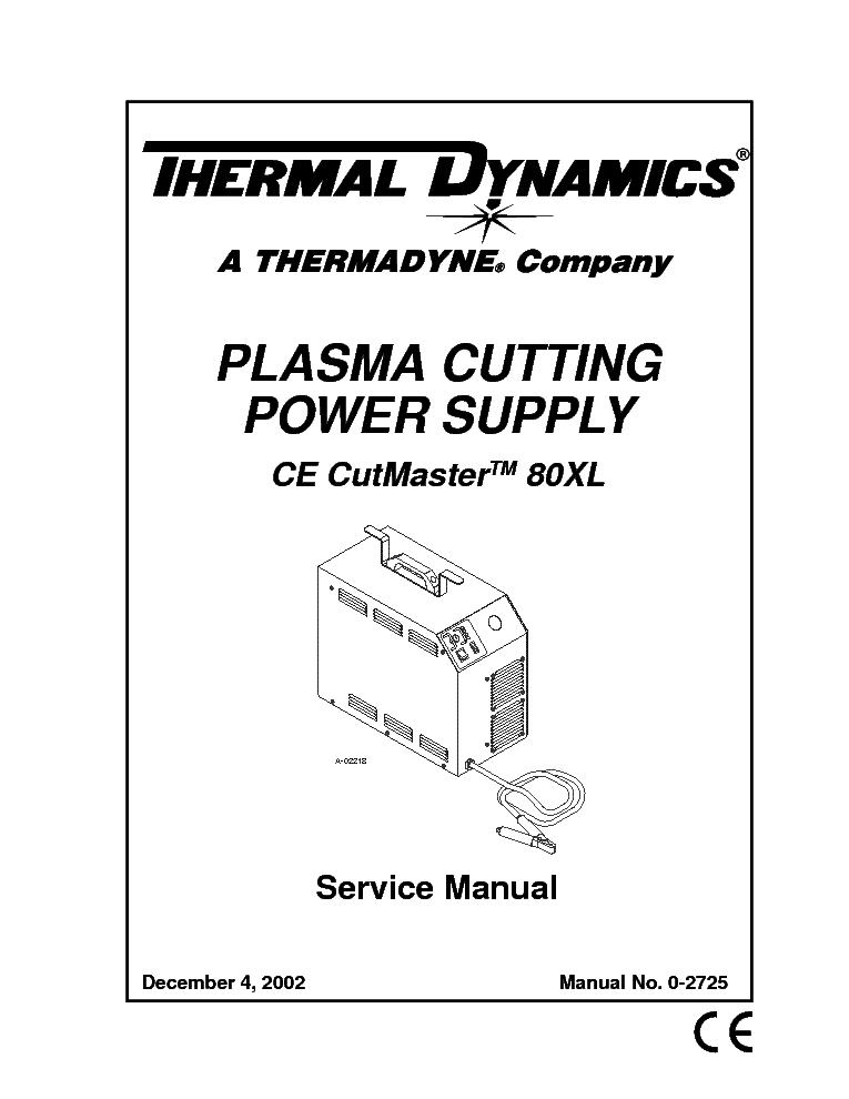 THERMAL DYNAMICS PAK MASTER 50XL PLUS ENG-SM Service