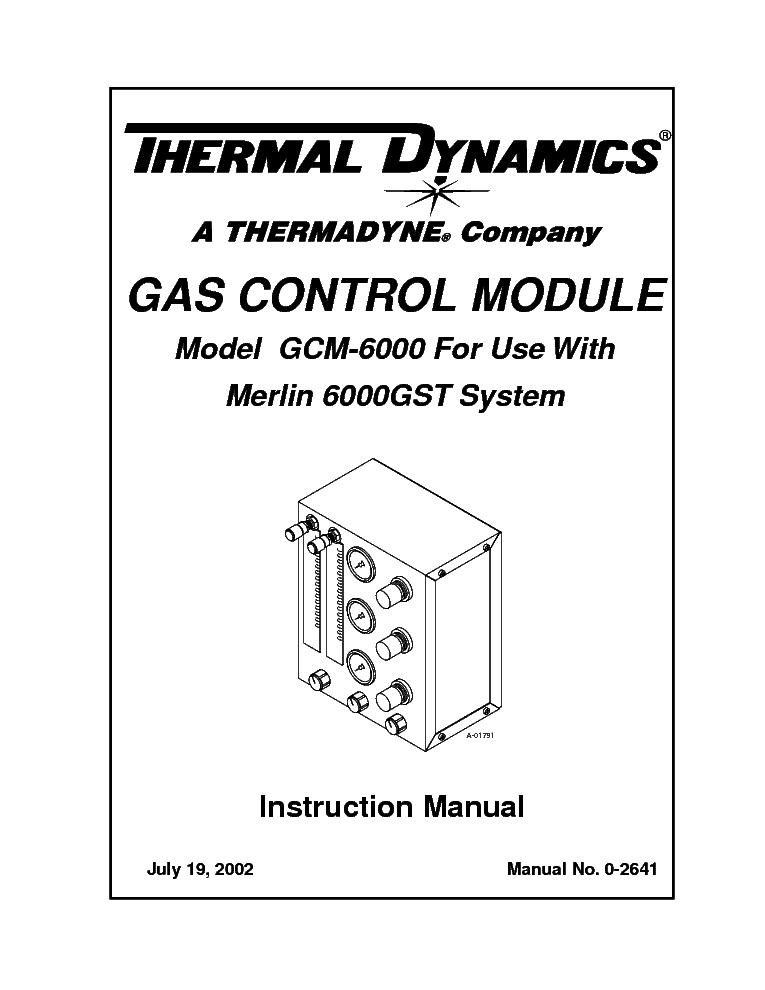 THERMAL DYNAMICS GCM-6000 ENG-IM Service Manual download