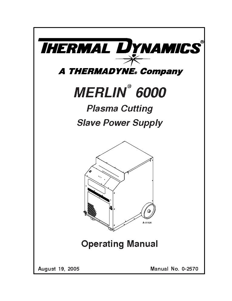 THERMAL ARC PAK 5XR ENG-IM Service Manual free download