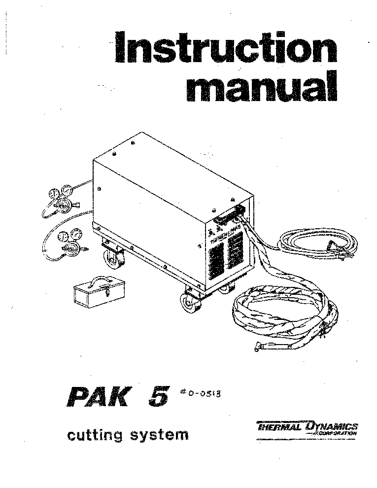 THERMAL DYNAMICS PAK 5 ENG-IM Service Manual download