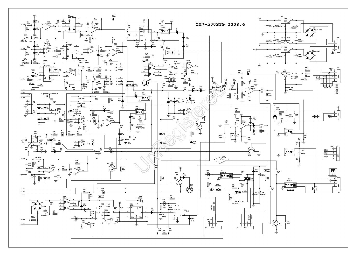 hight resolution of zx7 500stg inverter dc welding service manual download schematics eeprom repair info for