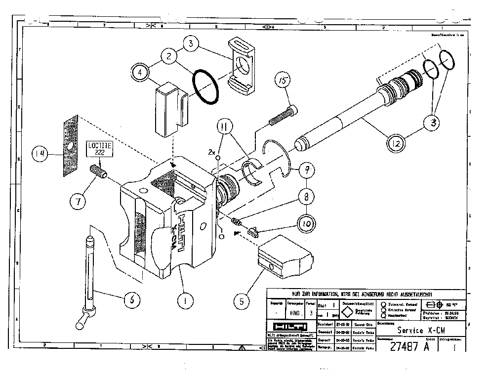 HILTI X-CM Service Manual download, schematics, eeprom