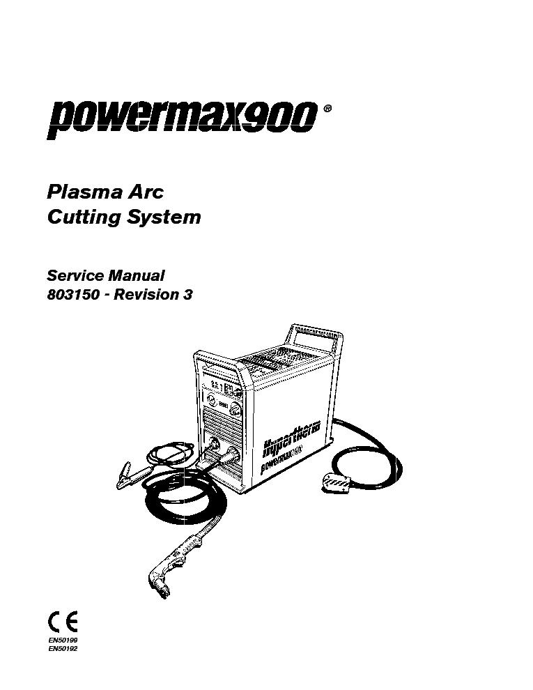 HYPERTHERM POWERMAX1650 SM Service Manual download