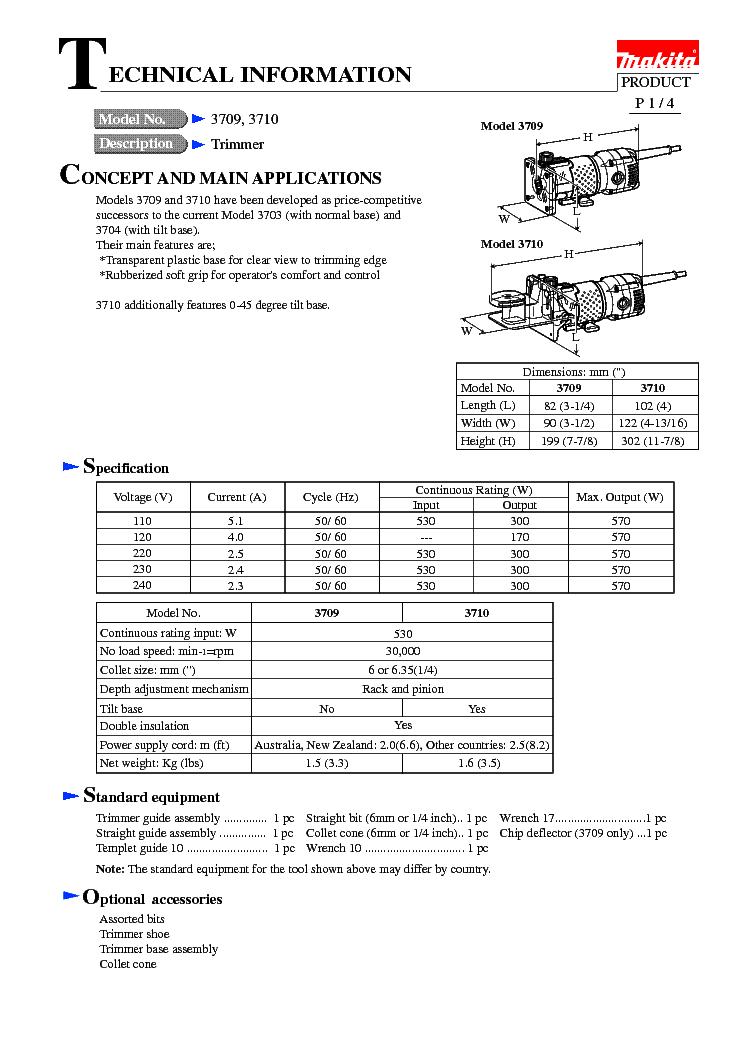 MAKITA 6833-TE Service Manual download, schematics, eeprom
