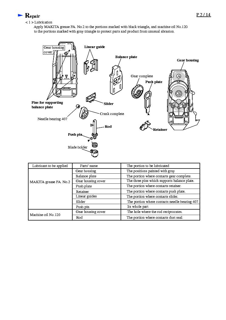 MAKITA 4341T-TE Service Manual download, schematics