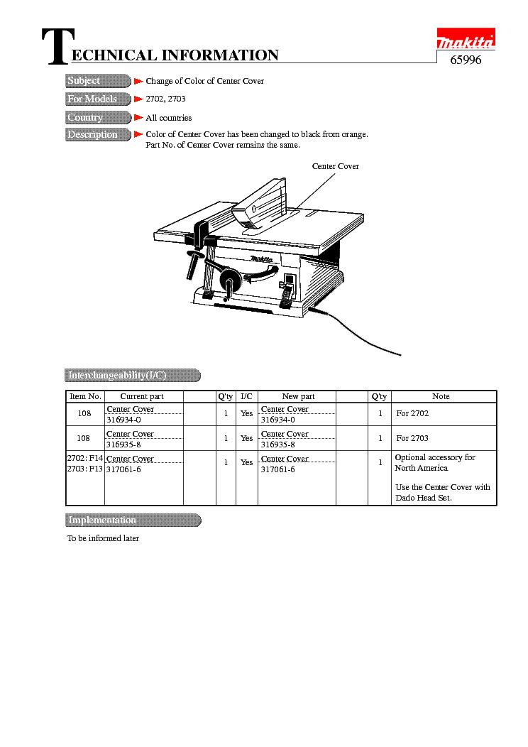 MAKITA 6280D-TE Service Manual download, schematics