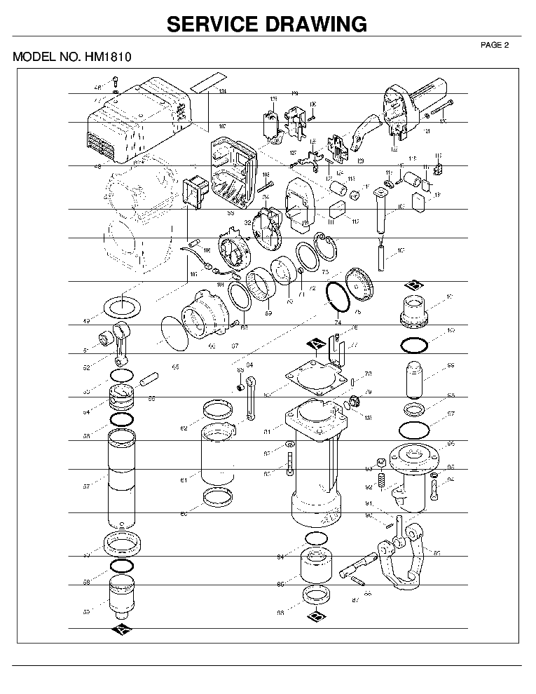 MAKITA HM1810 PARTS LIST Service Manual download