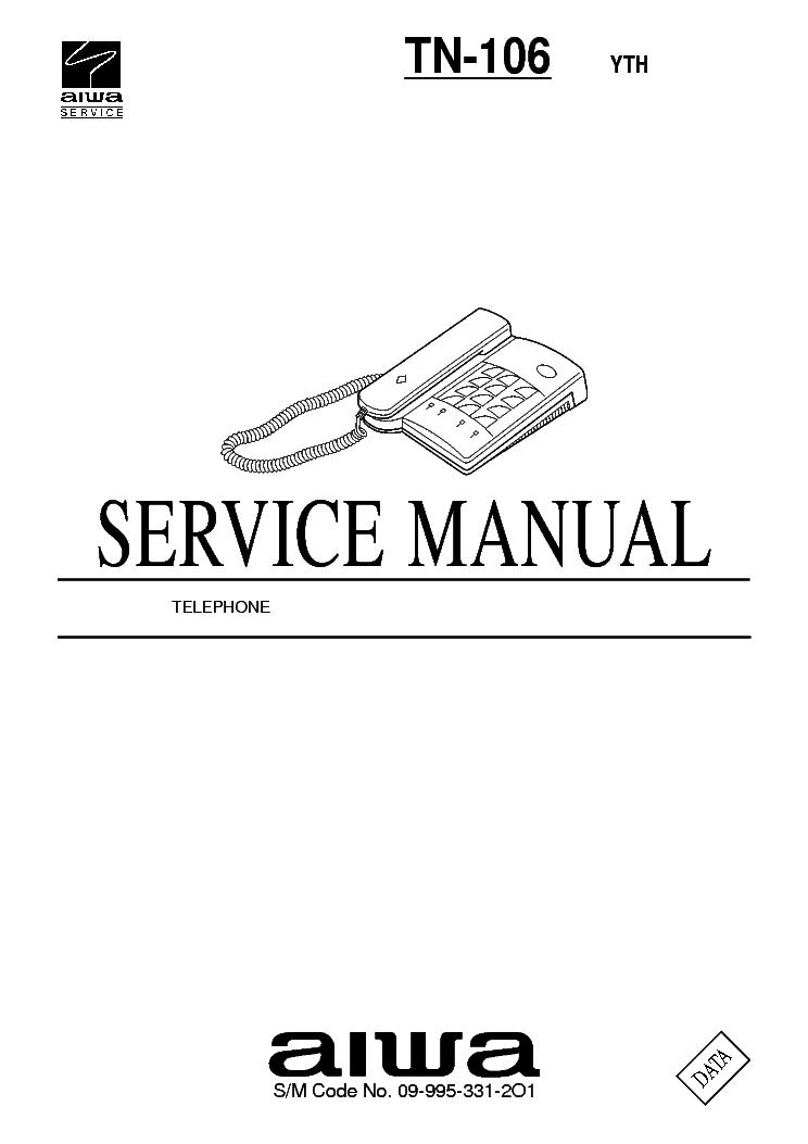 AIWA TN-C10 Service Manual download, schematics, eeprom