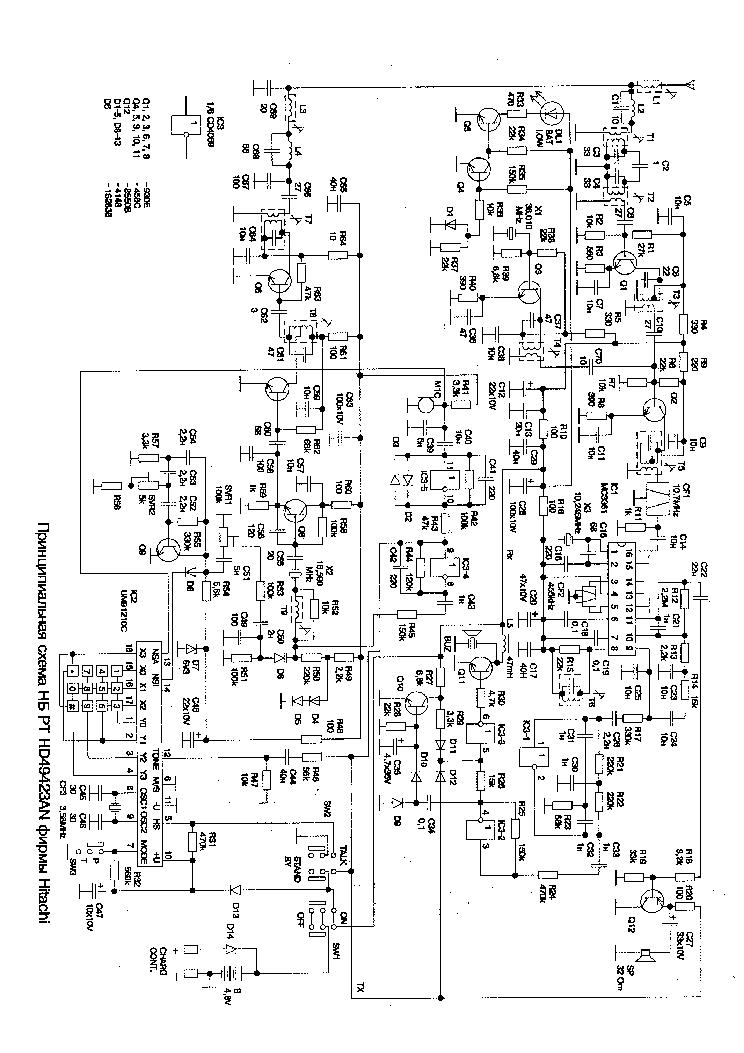 HITACHI HD49423 Service Manual download, schematics