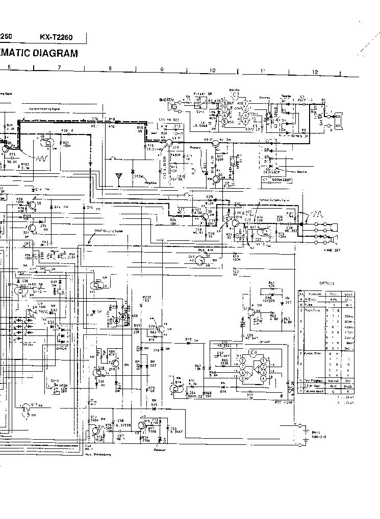PANASONIC KX-T2260 SCH Service Manual download, schematics