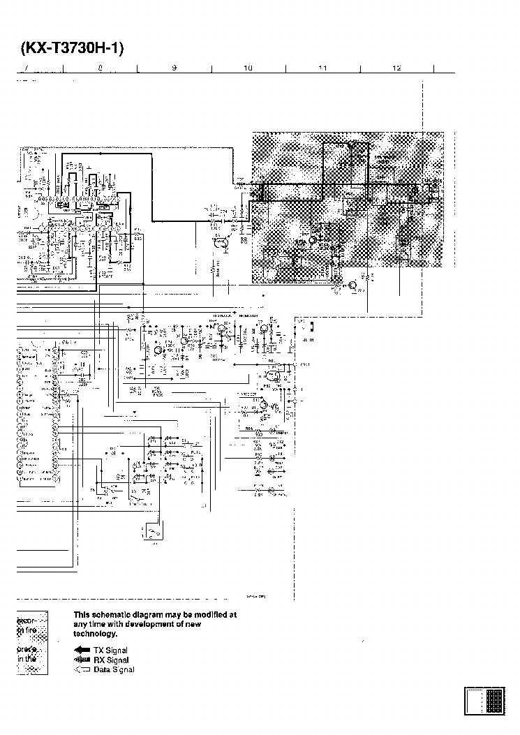 PANASONIC KX-T3730 Service Manual download, schematics