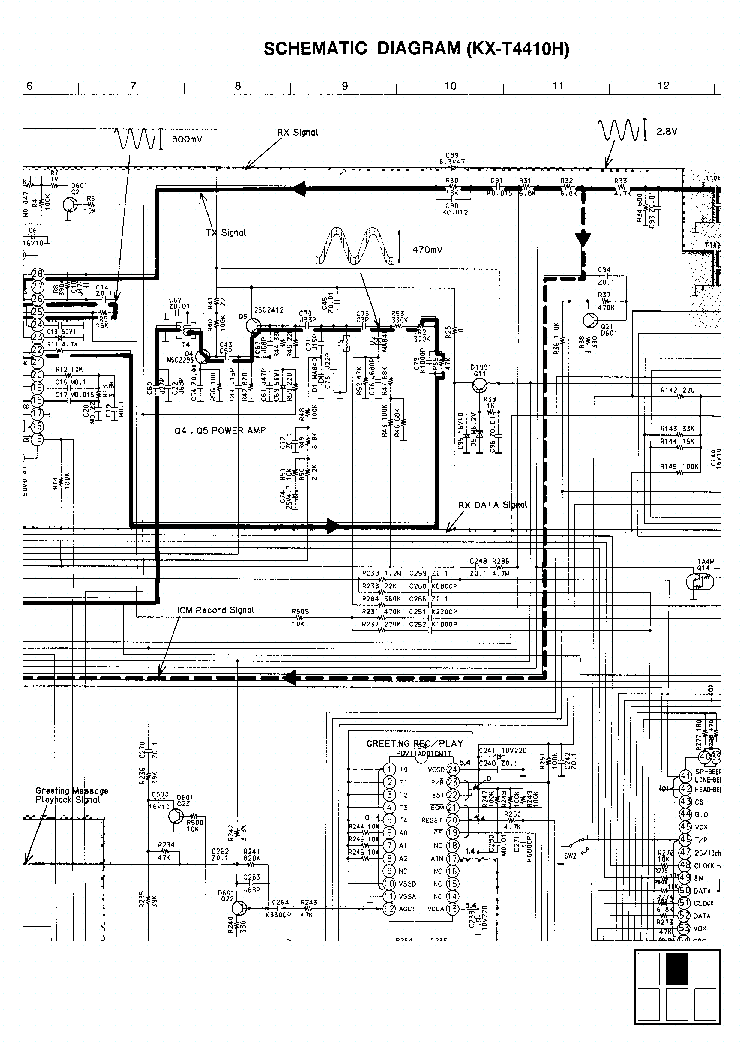 PANASONIC KX-T4410 Service Manual download, schematics