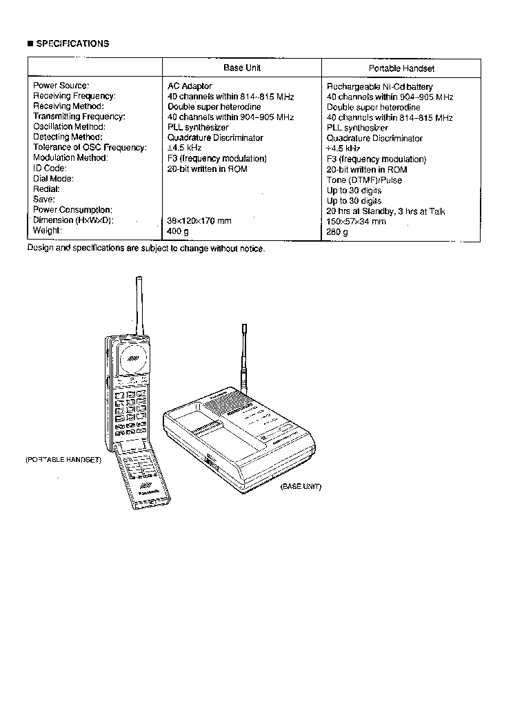 PANASONIC KX-T9080 Service Manual download, schematics