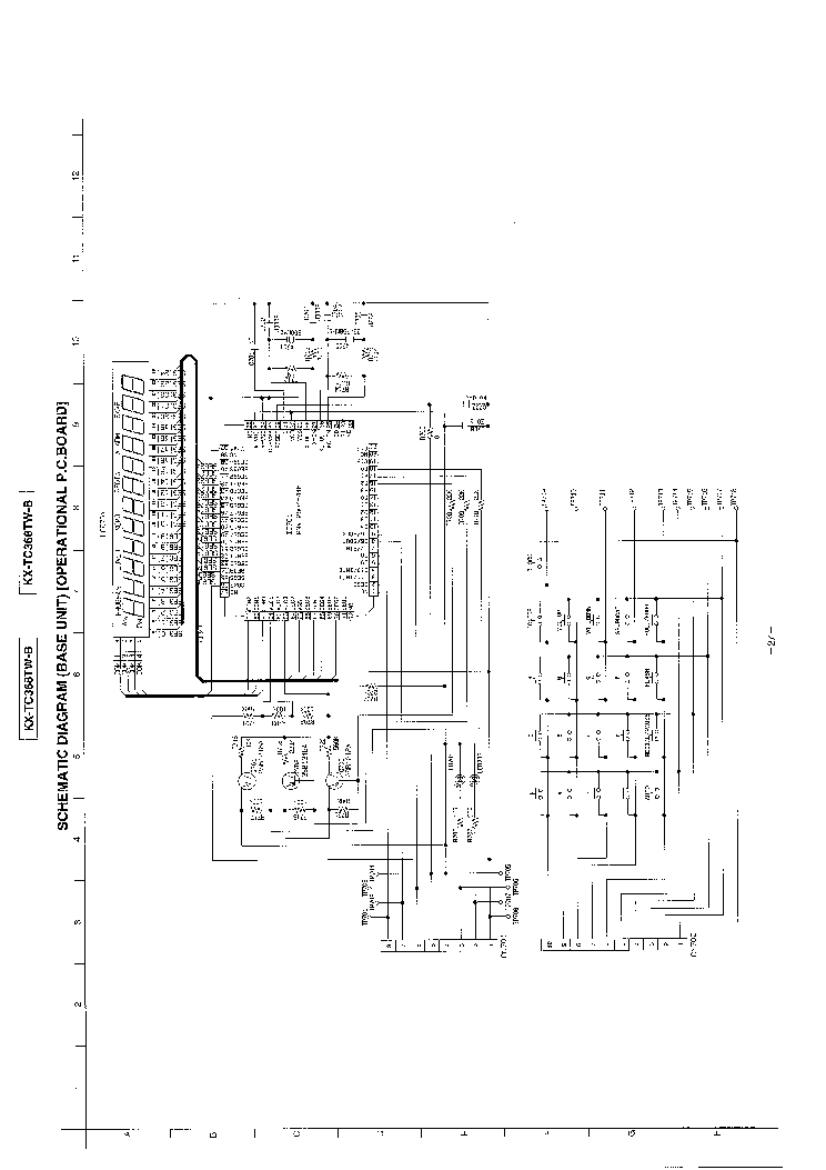 PANASONIC KX-TC368TW-B Service Manual download, schematics